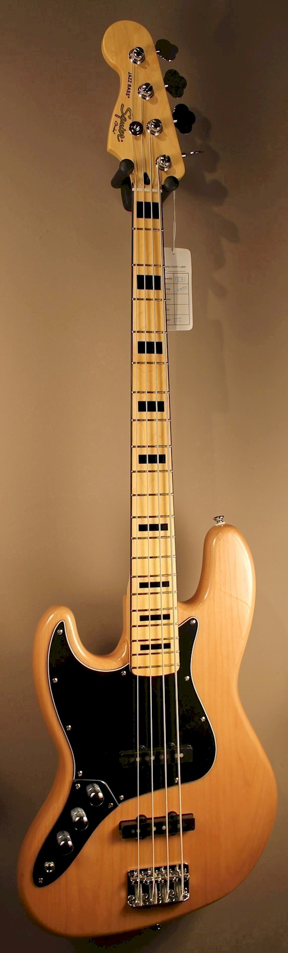 squier vintage modified 39 70s jazz bass lh natural sold leftyguitars. Black Bedroom Furniture Sets. Home Design Ideas