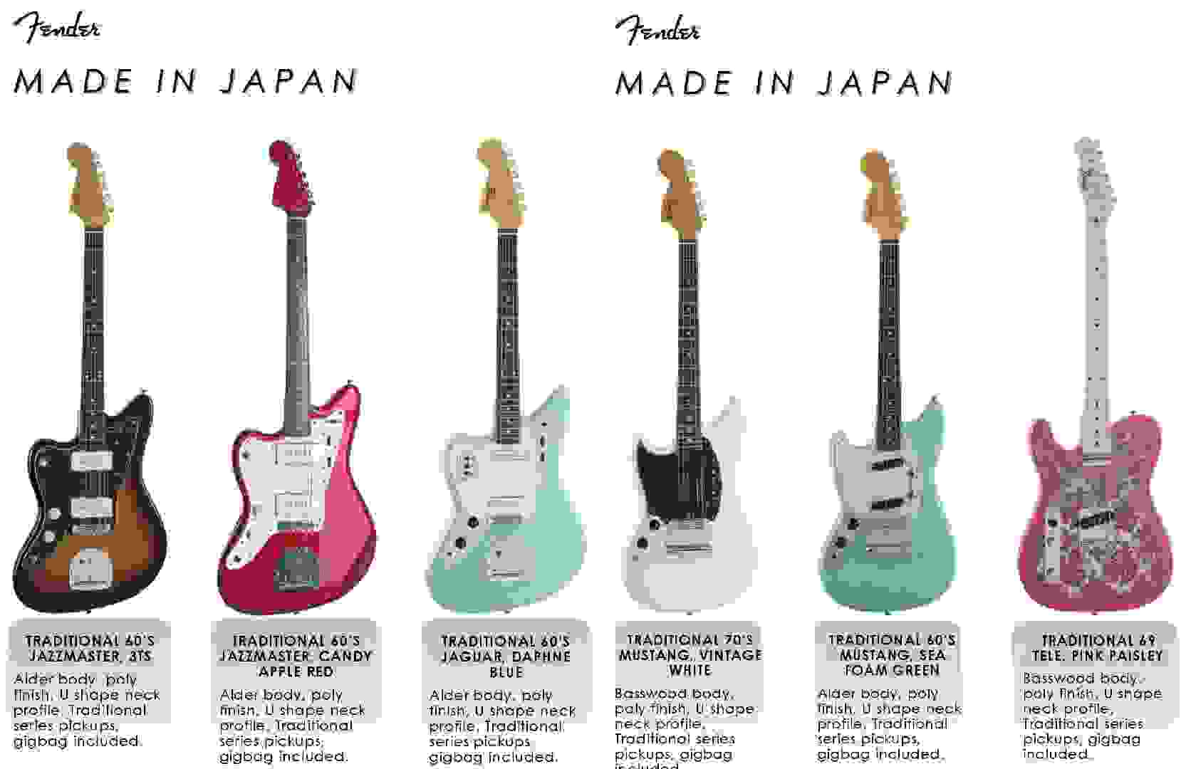 Fender Left-Handed Special Run - Made in Japan